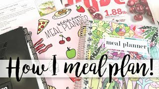 Meal Planner - How I Meal Plan! My Process for Meal Planning in the Carrie Elle Meal Planner