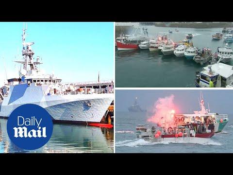 Jersey fishing row: French fishermen set up blockade as UK-France tensions escalate