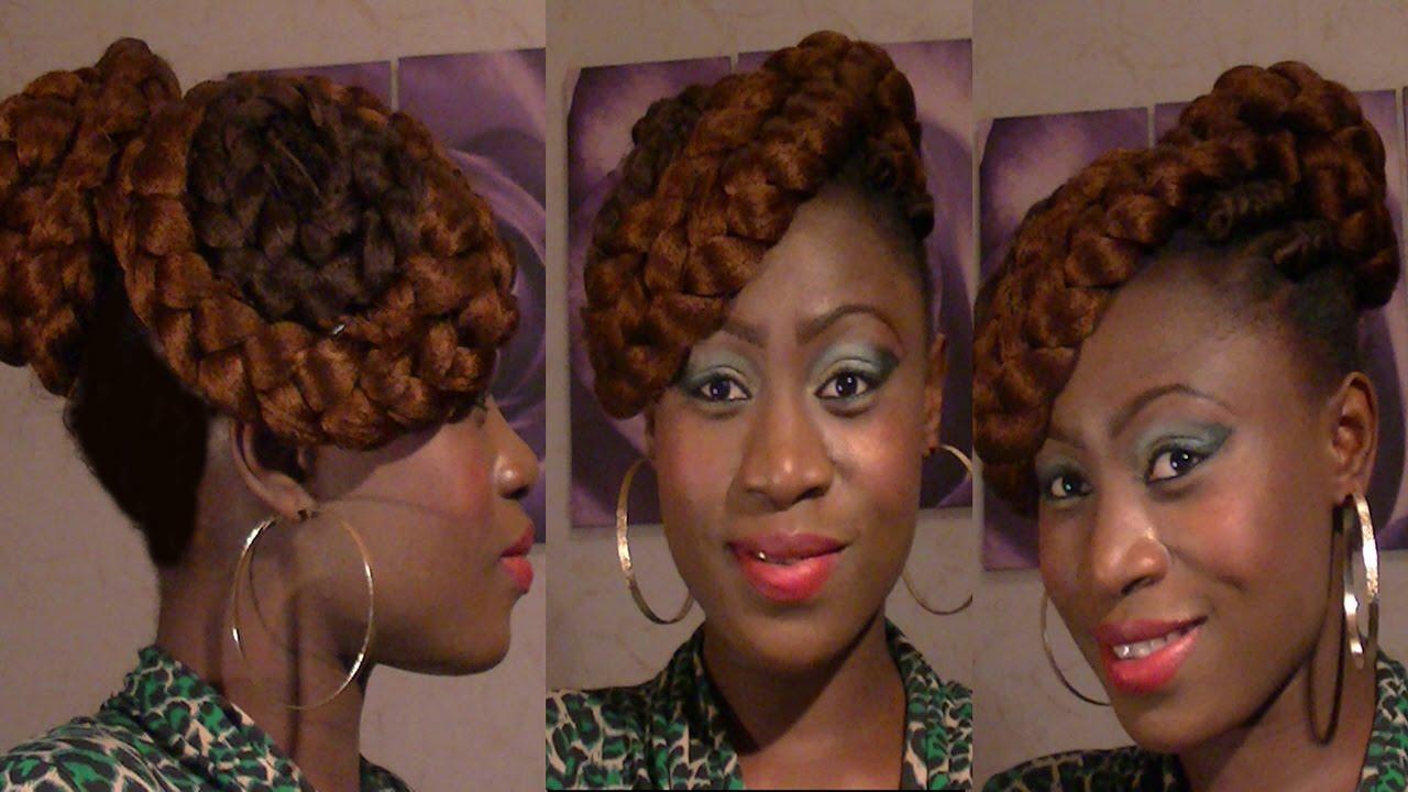 Mega Penteado Afro 2015 Coque Com Tranas Casca De