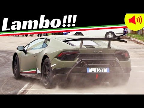 Lamborghini Aventador S & Huracán Performante in Action - 2018 Motori e Sapori Supercar Gathering