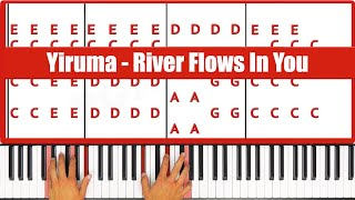 How To Play Yiruma River Flows In You Piano Tutorial  - ♫ ORIGINAL