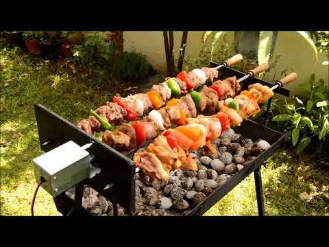 How to make a PERFECT BBQ souvla kebab with the foukou grill english