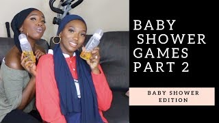 Trying Baby Shower Games (baby Bottle Challenge)