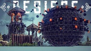 Besiege Alpha Gameplay - Best Besiege Creations! - Climbing Bipedal Walker, Death Star & More!