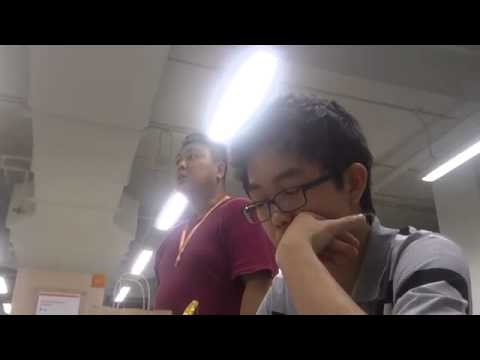 Singapore guy snaps at Northpoint Library ORIGINAL)