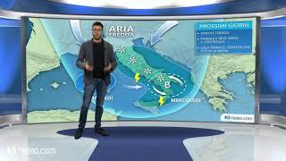 Meteo Italia: maltempo verso il Centrosud, clima freddo