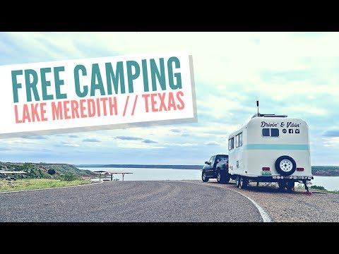 Free Camping at Lake Meredith, Texas 🏖 Van Life & Full Time RV Living 🚐💨 Best Boondocking Sites