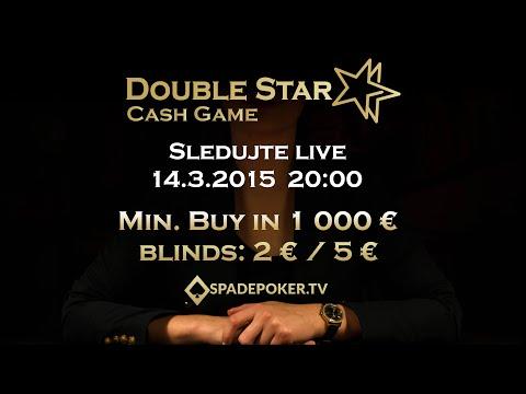 Živé vysielanie (záznam) 14.3.2015 | DoubleStar Cash Game | Klobušice