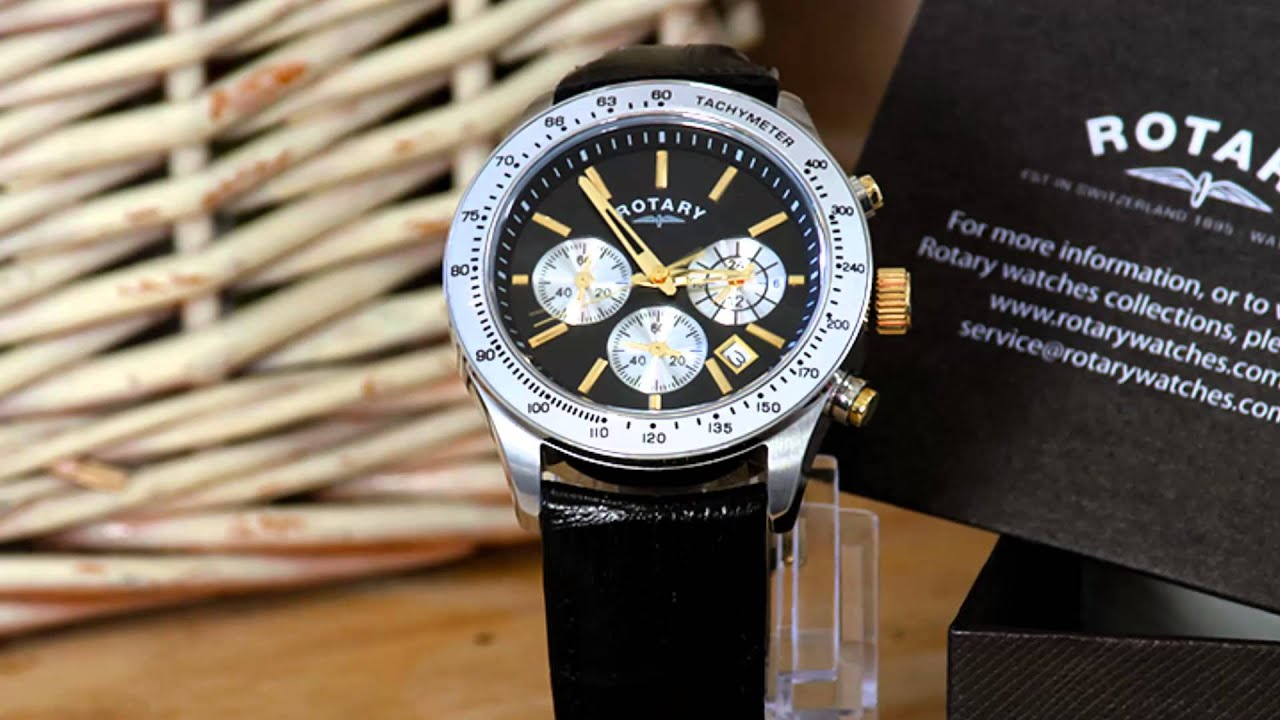 rotary mens gents stainless steel black strap chronograph swiss rotary mens gents stainless steel black strap chronograph swiss watch ~new boxed~