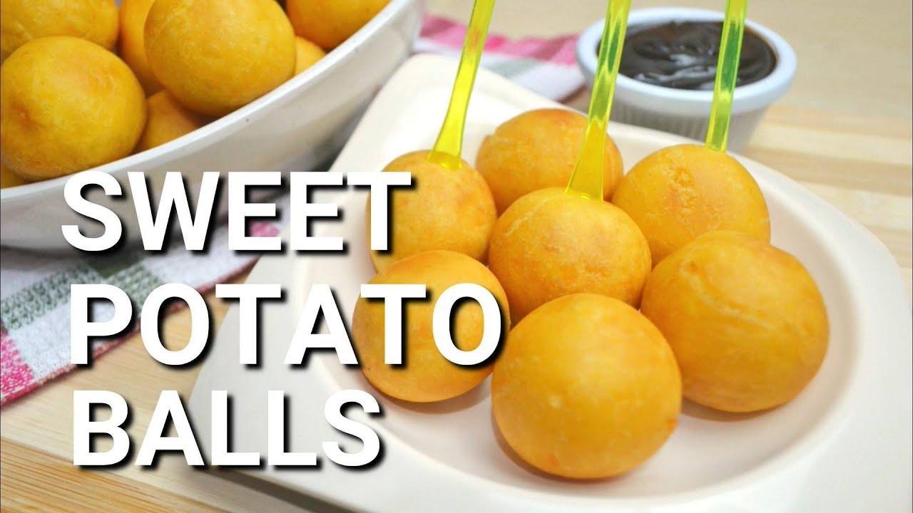 Kamote Balls Sweet Potato Balls Sweet Potato Recipes Youtube