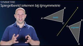 Symmetrie - Spiegelbeeld tekenen bij lijnsymmetrie - WiskundeAcademie