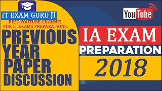 IA INFORMATION ASSISTENT PREVIOUS YEAR SOLVED PAPER सूचना सहायक परीक्षा 2013 का हल प्रश्न पत्र