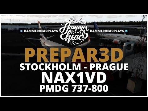 [P3D] Norwegian 1VD | ESSA (Stockholm) - LKPR (Prague) | PMDG 737-800 | Vatsim