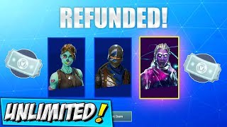 How To Get FREE UNLIMITED REFUNDS! (WORKING) Fortnite MORE THAN 3 TIMES GLITCH! Refund System