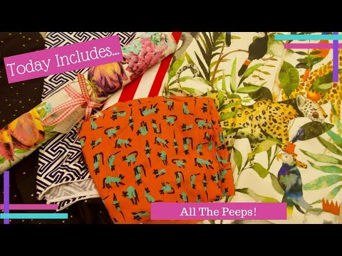 Daily Waffle 2018 :: Day 59 :: All The Fabric, All The Peeps!