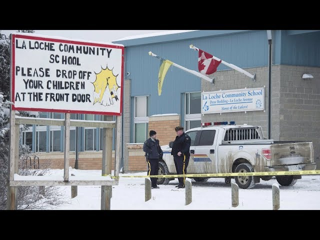 A young man has been sentenced to life in prison with no chance at parole for 10 years for killing four people in La Loche, Sask., in 2016. The man's lawyer expressed frustration over what he says is a lack of government help for the community. (The Canadian Press)
