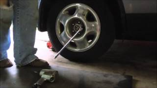 Surviving in the Suburbs - Changing Honda CRV Brake Pads - video tutorial by Old Sneelock's Workshop(While I was traveling to Goshen, IN the left rear brake started making noise. When I got to the plant I checked the brake pad and there wasn't any showing., 2015-06-16T13:00:02.000Z)