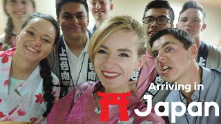 Japan Vlog #1- Arriving, Taking a class at a Japanese school, Harajuku, Shibuya Crossing & more!