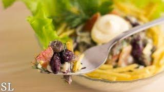 """Невероятно Вкусный Салат за 5 минут """"Гости на Пороге"""". Пошаговый рецепт."""