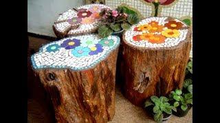45 Fabulous Tree Stump Landscaping and Decor Ideas