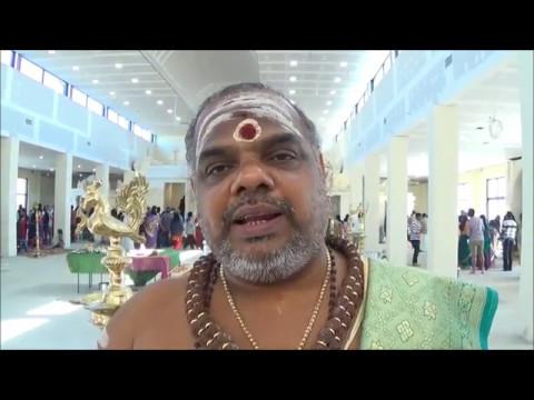 Sydney Sri Durga Temple - Oil applying to deities