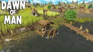 DAWN OF MAN - Ep. 01 - FIRST LOOK Pre-Historic City Building Survival Gameplay