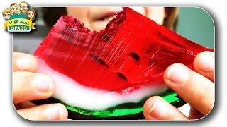 Wie man ein WASSERMELONEN GUMMIBÄRCHEN selber macht 🍉 Watermelon JELLY  DIY 👌 Deutsch Viermalspass