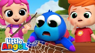 Itsy Bitsy Spider Needs to Get Home! | Little Angel Kids Songs & Nursery Rhymes
