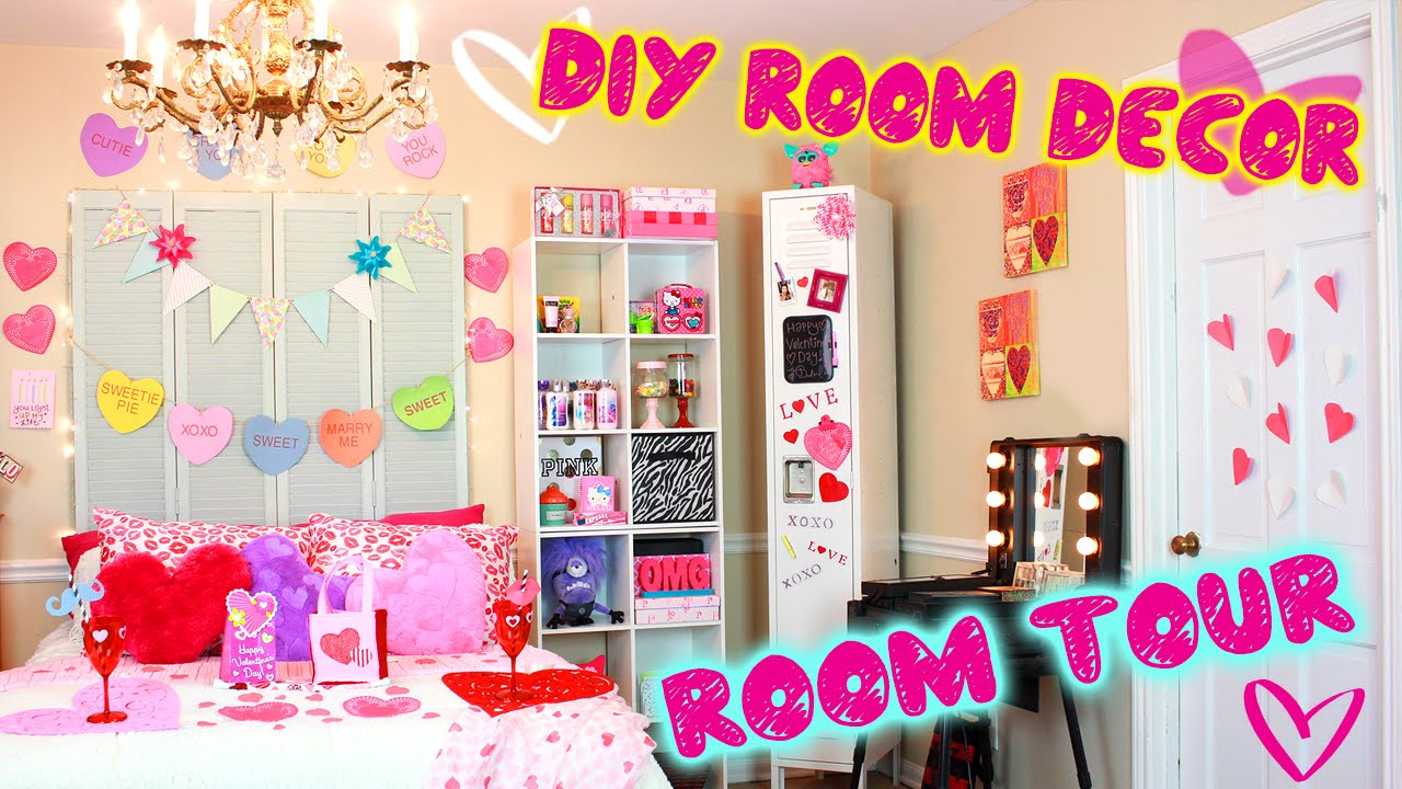diy room tour valentine edition diy decor ideas for v day easy dollar store diys youtube - Diy Room Decor Ideas