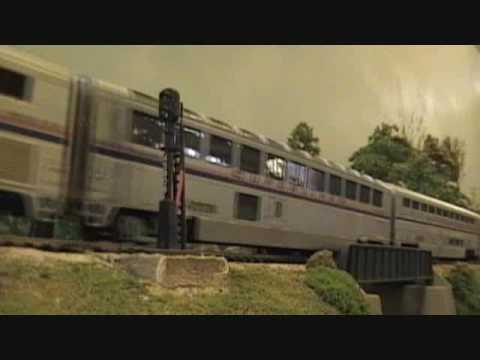 Amtrak Train HO Scale Fever River Model Railroad Club