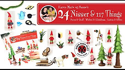 24 Nisser 117 Things Quilling Nissebog Pixi Book