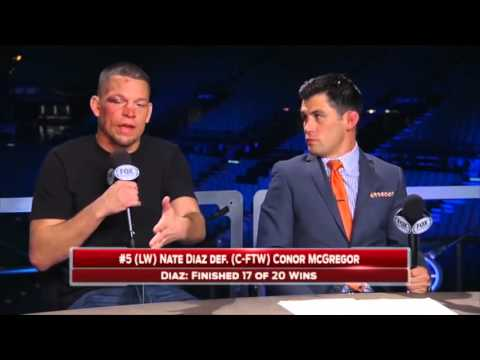 "Nate Diaz on UFC 196 win ""Oh you're a wrestler now?"" - FULL VIDEO"
