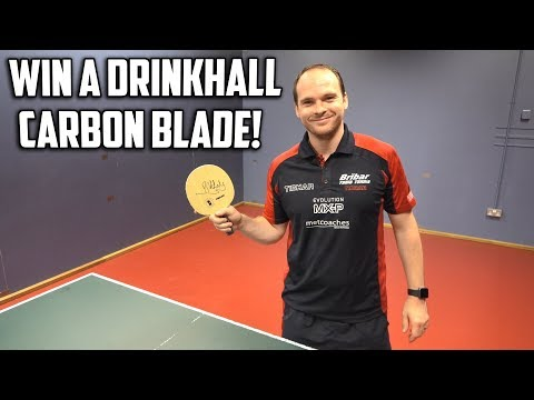 WIN a Drinkhall Carbon blade signed by Paul Drinkhall!
