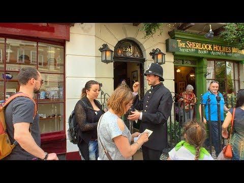 LONDON WALK On Sherlock Holmes' Baker Street From Grosvenor Square Incl. Madame Tussauds | England