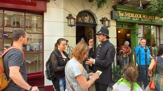 LONDON WALK on Sherlock Holmes' Baker Street from Grosvenor Square incl. Madame Tussauds | England