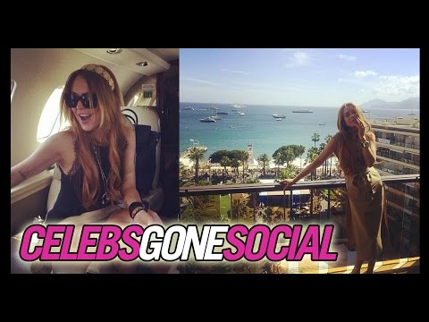Lindsay Lohan at Cannes -- Celebs Gone Social for May 19, 2014