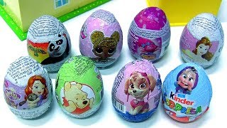 Chocolate Easter Eggs Surprise LOL Dolls, Kinder Masha, Pooh Bear Panda, Princess Sofia,