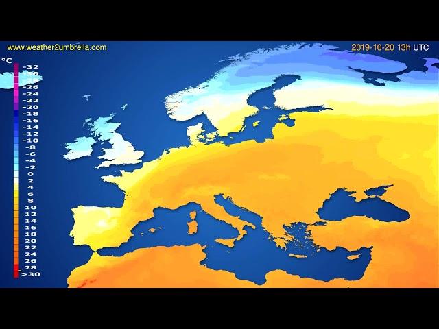 <span class='as_h2'><a href='https://webtv.eklogika.gr/' target='_blank' title='Temperature forecast Europe // modelrun: 12h UTC 2019-10-18'>Temperature forecast Europe // modelrun: 12h UTC 2019-10-18</a></span>