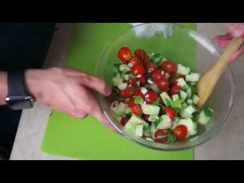 How To Make A Fresh And Easy Summer Salad - ASMR