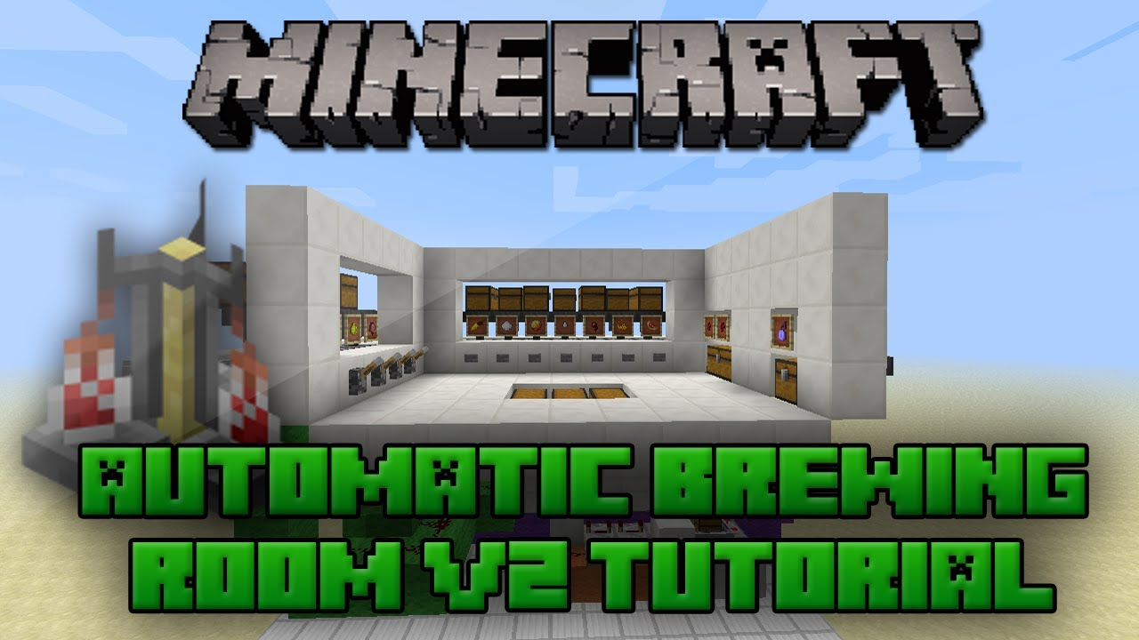 Minecraft Selectable Automatic Brewing Room V2 Tutorial