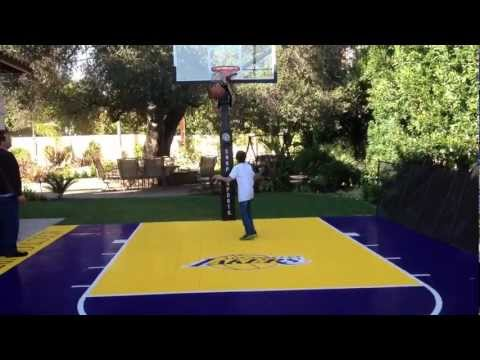 LOS ANGELES LAKERS COURT AT THE BACKYARD