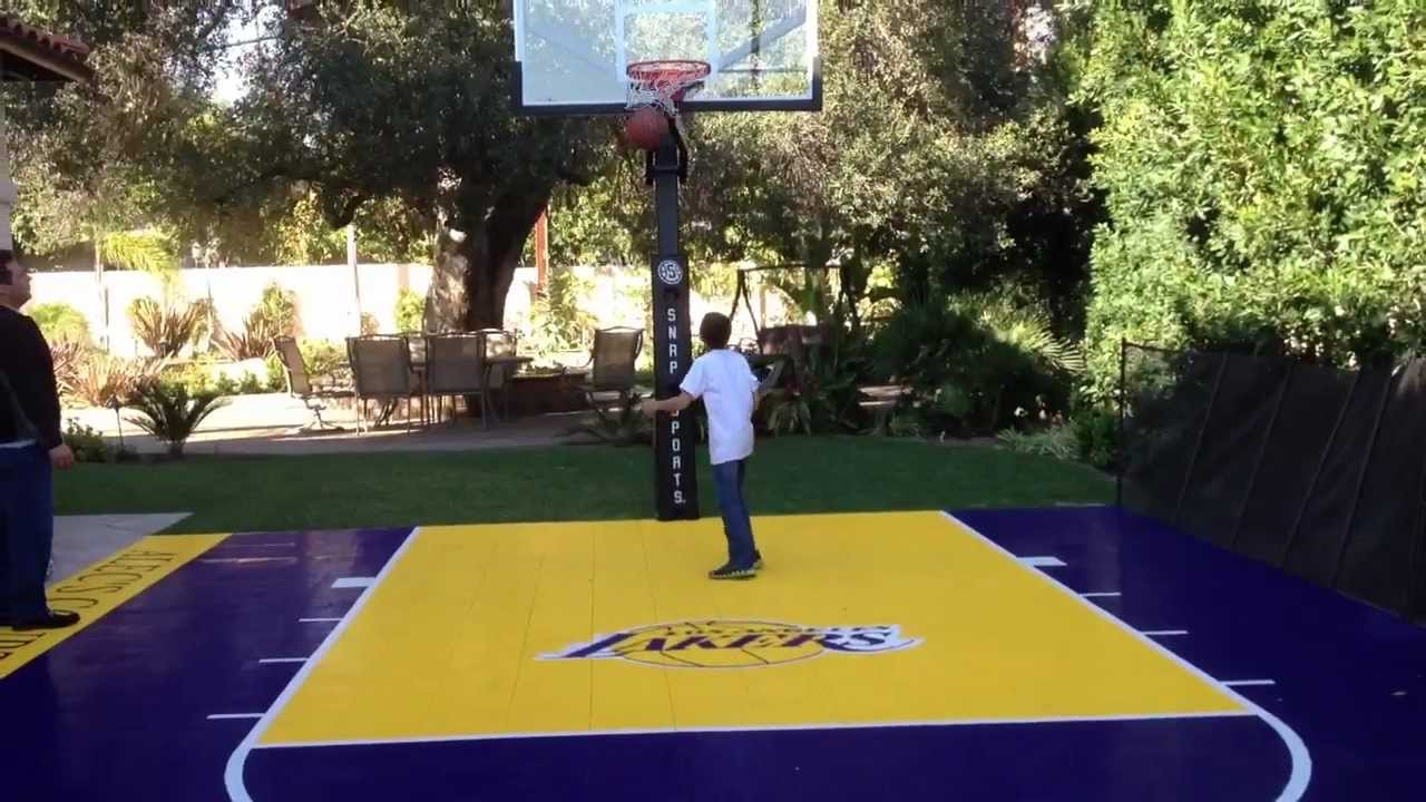 los angeles lakers court at the backyard youtube