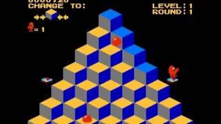 Q-bert - Q-bert (NES / Nintendo) - First time playing - User video
