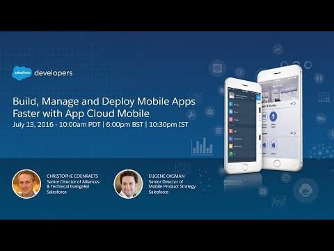 Build, Manage and Deploy Mobile Apps Faster with App Cloud Mobile