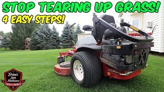 Lawn Mower - The Secret To RUT FREE TURNS On A Lawn Mower