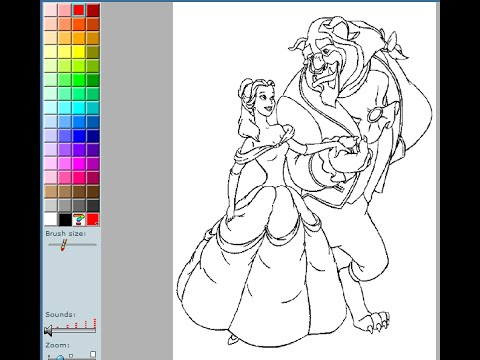 Beauty And The Beast Coloring Pages For Kids - Beauty And The Beast ...