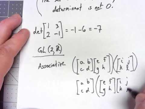 Abstract Algebra 2.1: GL(2,R)