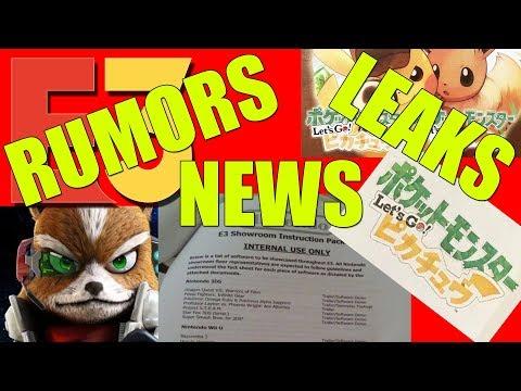 LEAKS, RUMORS, NEWS! NINTENDO E3 2018  SMASH BROS, POKEMON, STARFOX, AND MORE