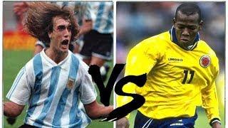BATISTUTA VS ASPRILLA (1993) - Argentina x Colômbia