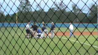 high school baseball coach passes out during game